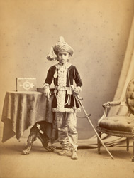 [Portrait of] His Highness Maharajah Sayaji Rao Gaekwar of Baroda, Nov.1875.